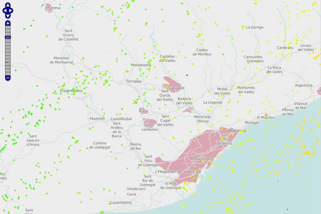 Mapa de llamps Barcelona 20072013